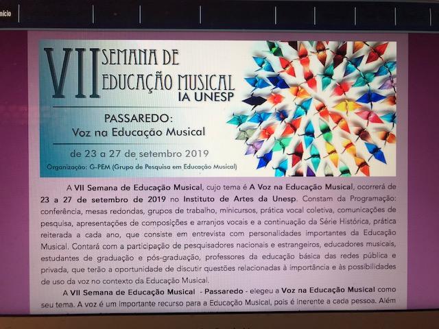 Semana da educação musical UNESP